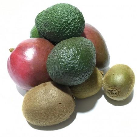 3 Sorten Bio-Früchte: Kiwis, Mangos und Hass-Avocados, insgesamt 5 kg