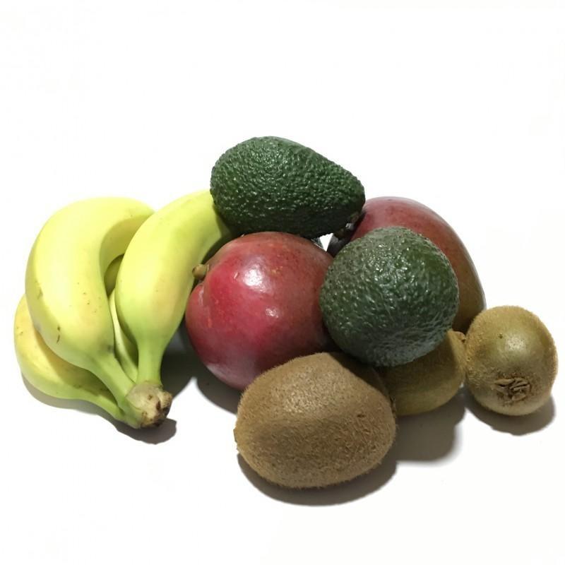 Fruits écologiques 4: Kiwis, Avocat Hass, Mangue, et Plátanos des Îles Canaries - 5 kg