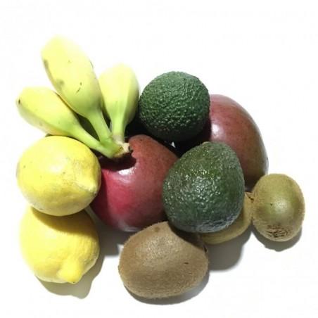 "Organic Fruits - Kiwis, Mangos, Avocado""Hass"", Lemons, Bananas  5 kg"