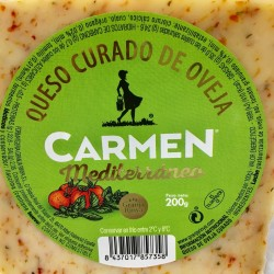 Manchego cheese cured sheep Mediterraneo with Tomato, Oregano and Thyme 200 g-