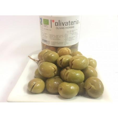 Bio-Aceitunas Verdes con hierbas 225 g