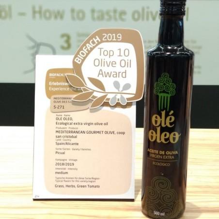 Aceite Ecológico de Oliva Virgen Extra ole oleo 500 ml