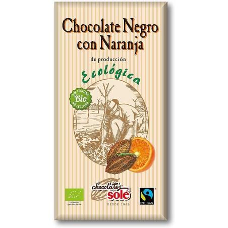 Chocolate Negro 56% con naranja Ecológico 100 g