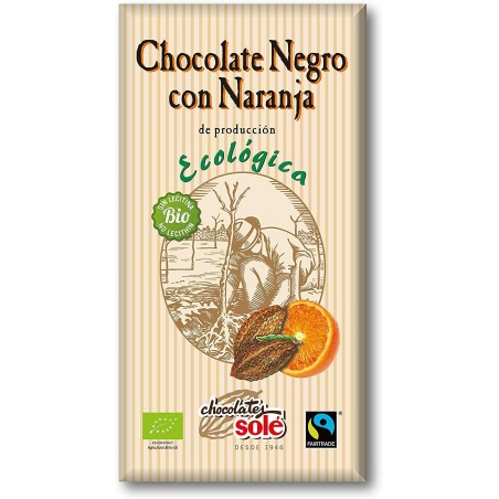 Black Chocolate 56% with orange Green 100 g
