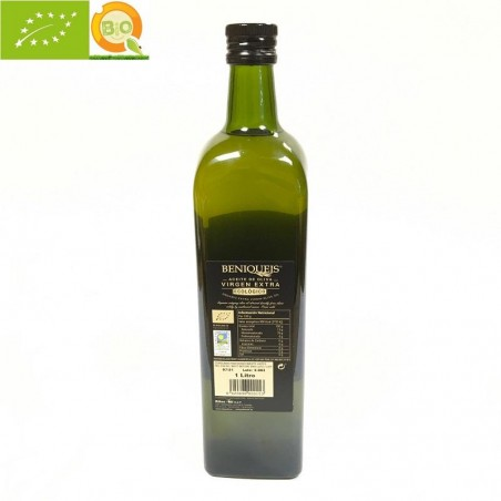 Aceite Ecológico de Oliva Virgen Extra, Beniqueis 1l (Alicante)