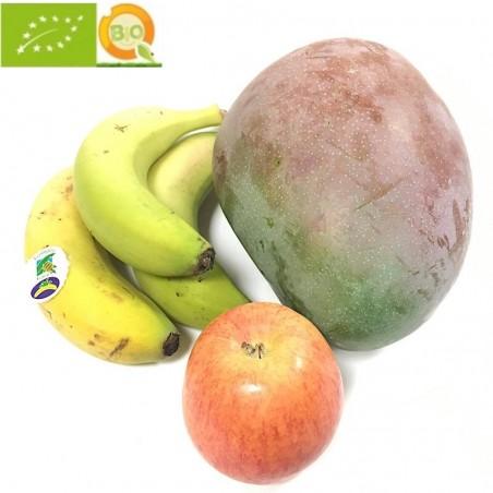 3 Sorten Bio-Früchte: Plátanos, Mangos, Äpfel (insgesamt 5 kg) (plátanos, mangos, manzanas)