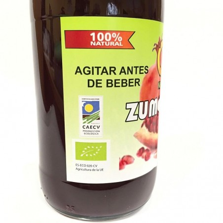 Juice of Pomegranates Green bottles of 750 ml. x 10 units