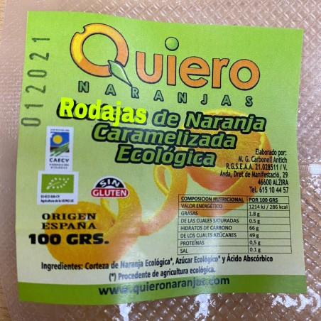 Orange slices Green candied 100 g