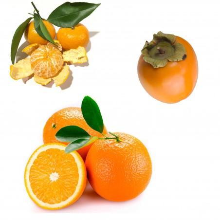 Bio-Tafelorangen 2 kg, Bio-Mandarinen 1 kg,  Bio-Kakis 2 kg (insgesamt 5 kg )