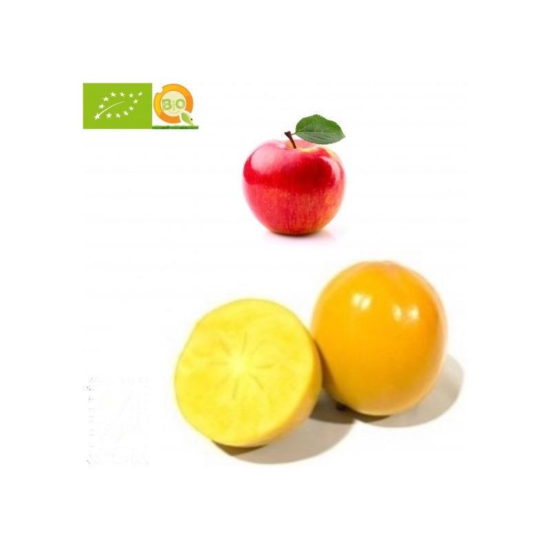 Organic Persimmons, Organic Apples and Fuji - 5 kg
