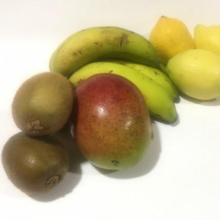 4 Organic Fruits: Mangos, Lemons, Bananas and Kiwis 5 kg (mango, plátano, limón, kiwi)