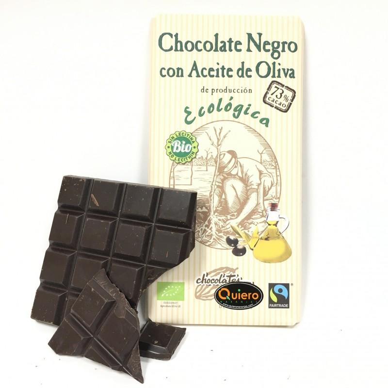 Bio-Zartbitterschokolade 73% Kakao mit Olivenöl 100g