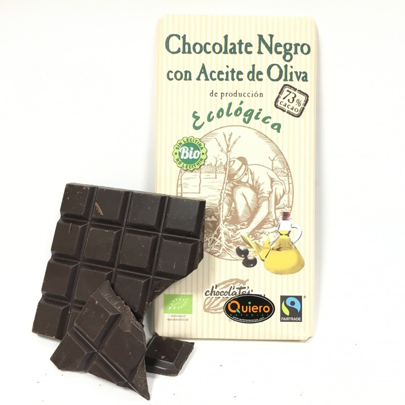 Ecological Dark Chocolate 73% with Olive Oil 100 g