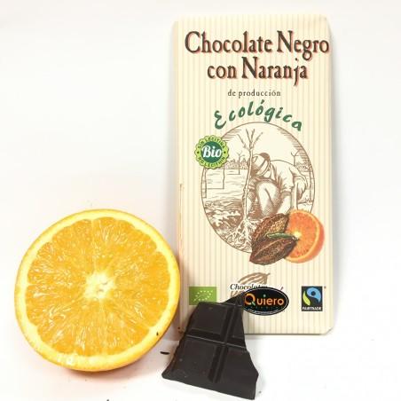 Bio-Bitterschokolade 56% mit Orange (100 g)