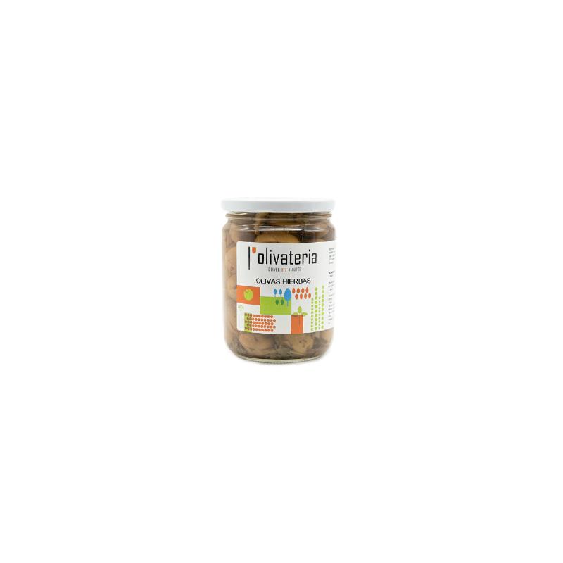 Grüne Bio-Oliven mit Kräutern, 225 g (aceitunas Hierbas)