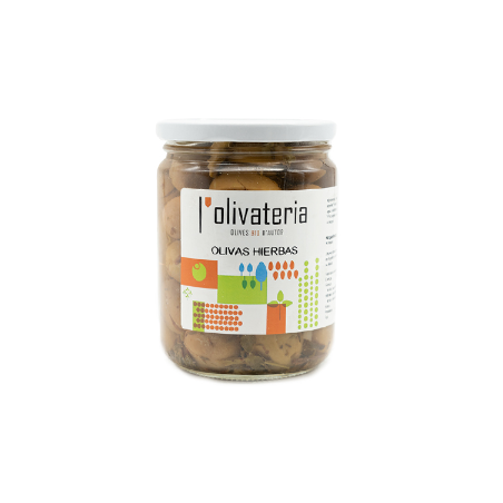 Organic Green Olives with herbs 225 g (aceitunas Hierbas)