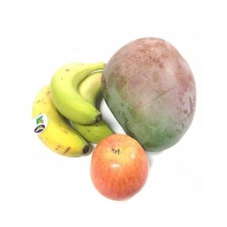 Frutas Ecológicas: Plátanos, Mangos, Manzanas Fuji
