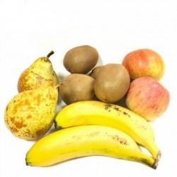 frutas Ecologicas: Manzanas Fuji, Peras, Kiwis y Plátanos de Canarias 5 kg
