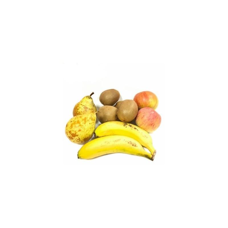 4 Organic Fruits: Apples, Pears, Kiwis and Bananas 5 kg (manzana, pera, kiwi, plátano)