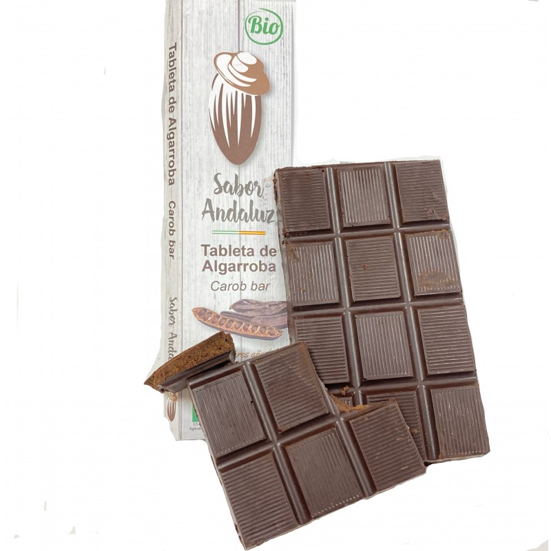 Bio-Johannisbrot schokolade 95%  mit Olivenöl 100 g (algarroba)
