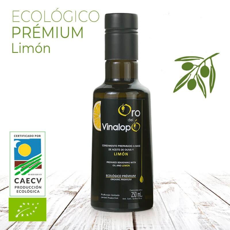 Aceite Ecológico de Oliva Virgen con Limón 250 ml