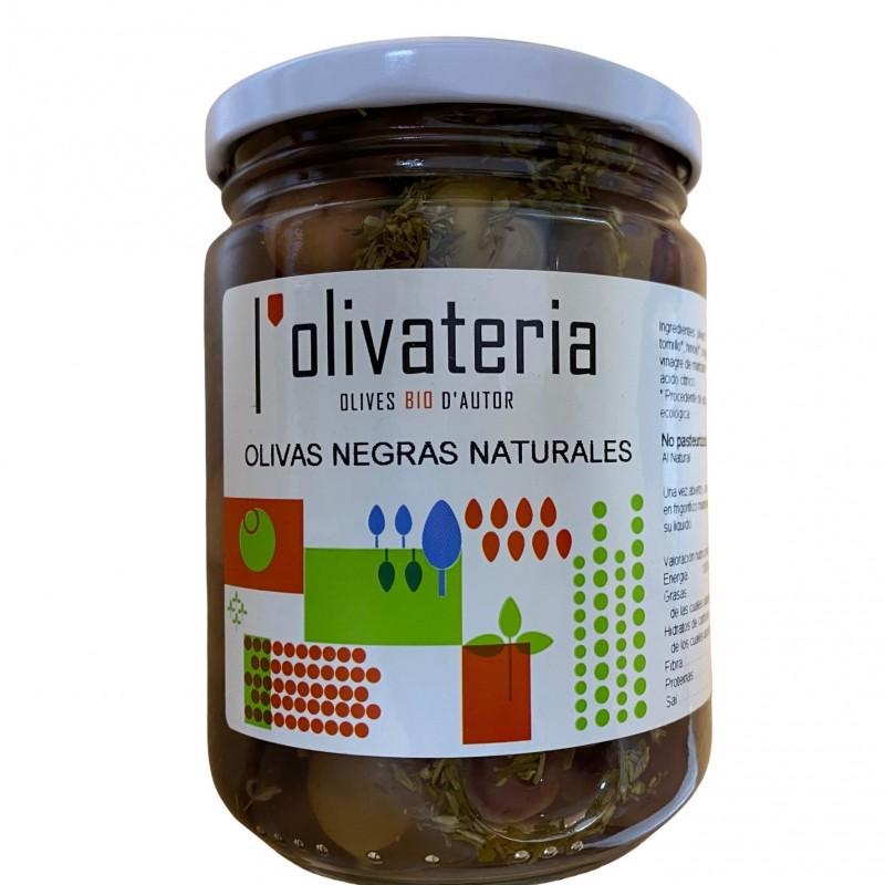 Olives noires naturelles Biologiques aux herbes 225 g (aceitunas negras)