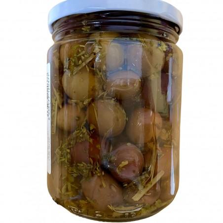 Schwarze Bio-Oliven Natürliche nach griechischer Art, 225 g (aceitunas negras)