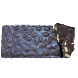 Turrón de Chocolate Negro 70 % Ecológico con Almendras 25 % - 200 g