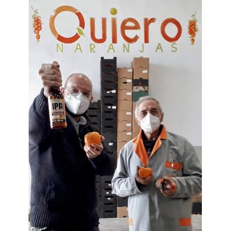 """Cerveza Artesanal Valenciana de kaki IPA """"Ribera Style"""" 33cl"""