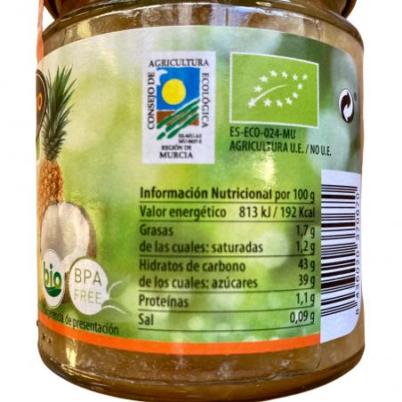 Bio-Ananas und Kokosnuss-Marmelade mit Agavensirup  265 g (piña y coco)
