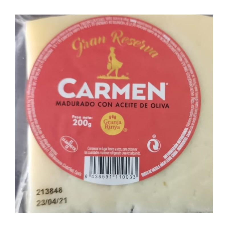 Queso Manchego curado con aceite de oliva virgen extra 200 g