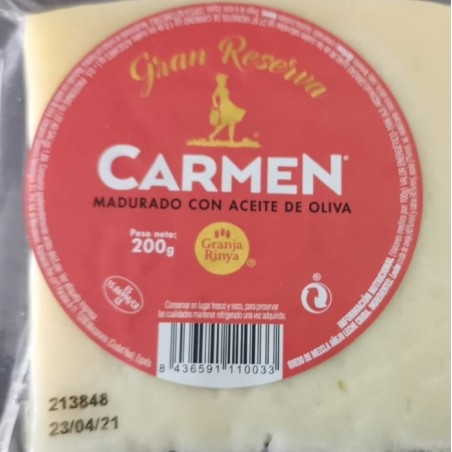 Cured Manchego cheese, with extra virgin olive oil 200 g