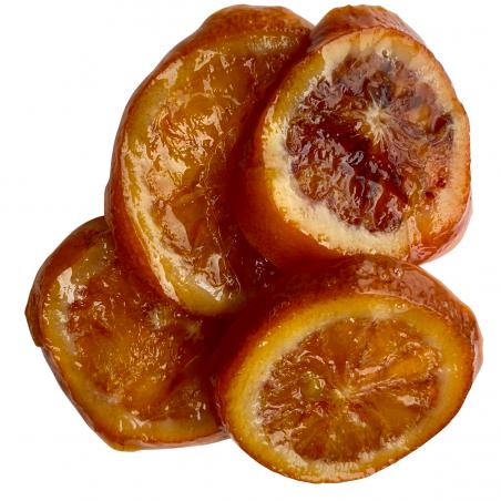 Kandierte Sanguine-Blutorangen 100 g (rodajas)