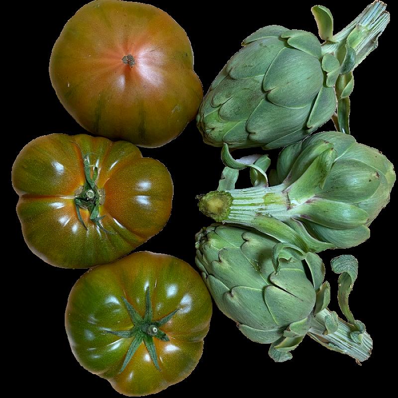 Tomate, L'artichaut - 5 kg (tomate y Alcachofas)
