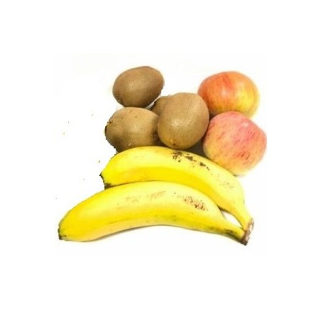3 Fruits écologiques: Pommes, Kiwi et Plátanos 5 kg (manzana, kiwi, plátano)