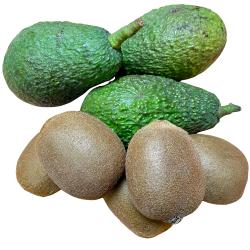 Organic Kiwis, Avocados...