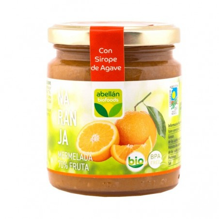 Organic Orange jam with Agave 265 g (naranja)