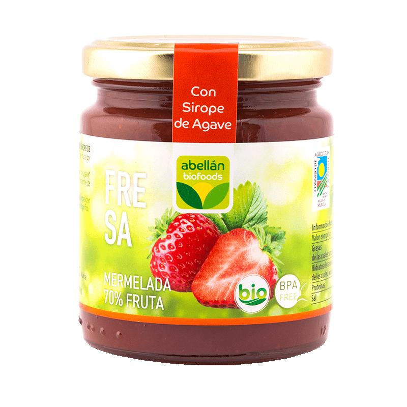 Bio-Erdbeer-Marmelade mit Agavensirup 265 g (fresa)