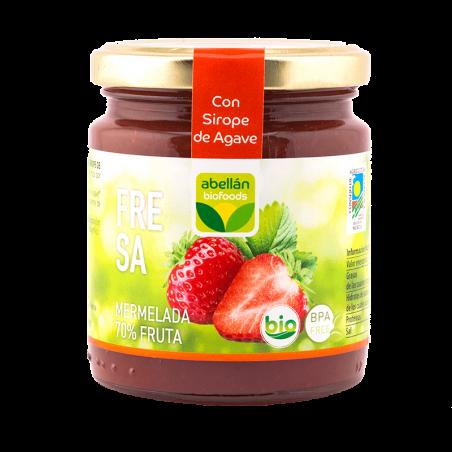 Organic Strawberry jam with Agave 265 g (fresa)