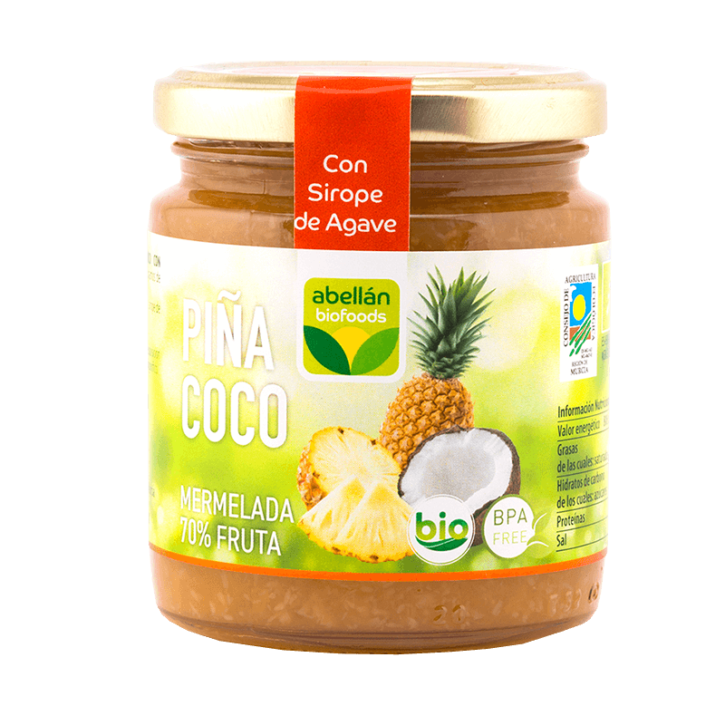 Mermelada de Piña y Coco Ecológica 265 g con Agave