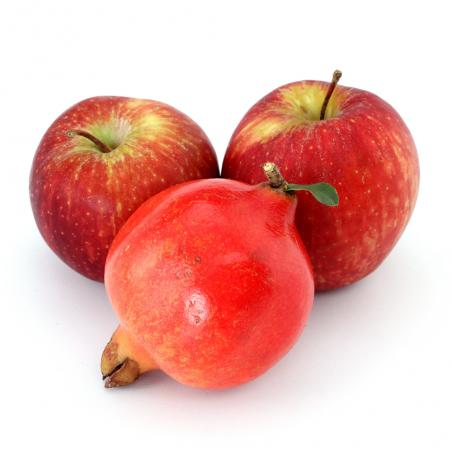 Bio-Granatäpfel, Bio-Äpfel, insgesamt 5 kg (granadas y manzanas)