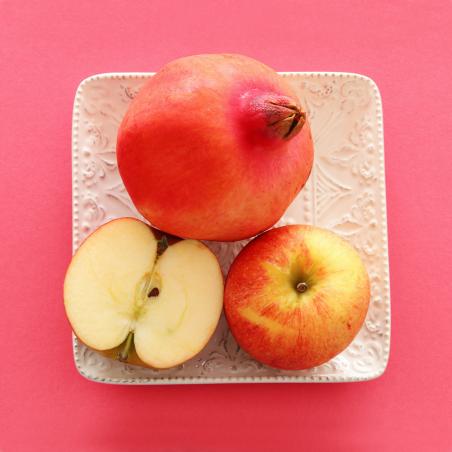 Fruits écologiques: Grenades et Pommes, écologiques  5 kg (granadas y manzanas)