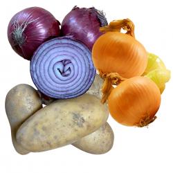 Patatas nuevas 8 kg Cebolla Morada 1 kg Cebolla dulce 1 kg - 10 Kg