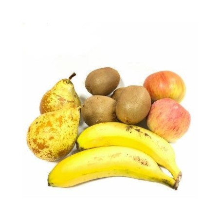 3 Organic Fruits: Apples, Pears and Bananas 5 kg (manzanas, peras, plátanos)