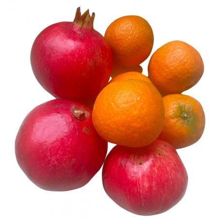 Bio-Mandarinen 8 kg, Bio-Granatäpfel 2 kg, insgesamt 10 kg (mandarinas y granadas)
